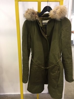 Marc by Marc Jacobs Parka verde oliva Pelliccia