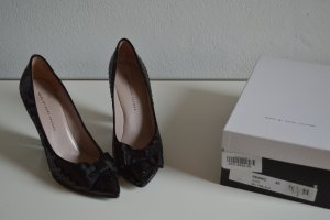 Marc by Marc Jacobs Pumps Schuhe Gr. 40 Schwarz Leder Pailletten