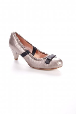 Marc by Marc Jacobs Pumps silberfarben-schwarz Schimmer-Optik