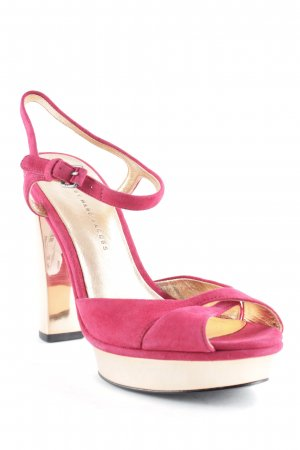 Marc by Marc Jacobs Riemchenpumps magenta-roségoldfarben Party-Look