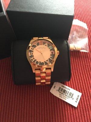 MARC BY MARC JACOBS -rosegoldene Uhr m.bunten Swarovski-Kristallen-aus USA