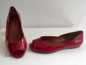 Marc by Marc Jacobs rote Lack Peeptoe Ballerina