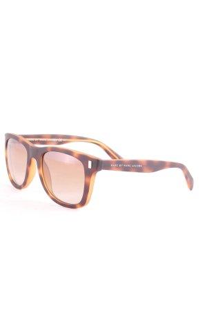 Marc by Marc Jacobs runde Sonnenbrille graubraun Farbverlauf Street-Fashion-Look