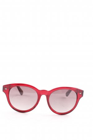 Marc by Marc Jacobs runde Sonnenbrille mehrfarbig Street-Fashion-Look