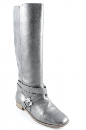 Marc by Marc Jacobs Schaftstiefel silberfarben Metallic-Optik