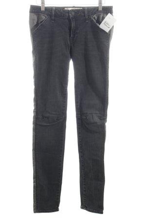 Marc by Marc Jacobs Skinny Jeans dunkelgrau Biker-Look