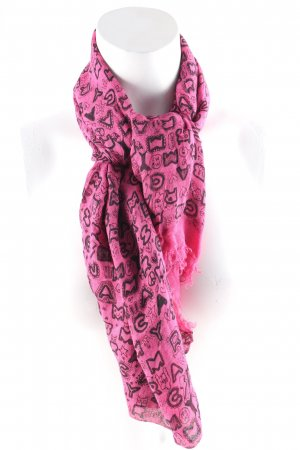 Marc by Marc Jacobs Sommerschal pink-schwarz Mustermix Street-Fashion-Look
