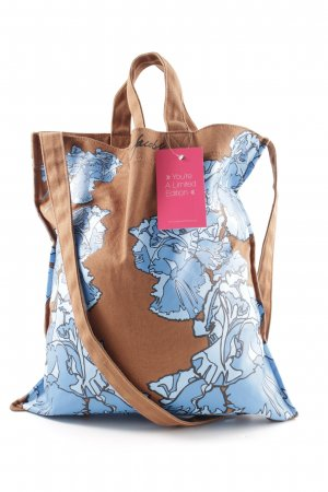 Marc by Marc Jacobs Canvas Bag brown-blue allover print casual look