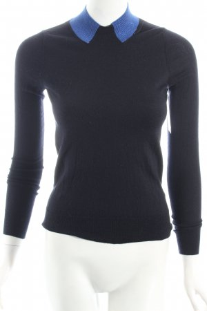 Marc by Marc Jacobs Strickpullover schwarz-blau Casual-Look