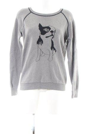 Marc by Marc Jacobs Sweatshirt hellgrau-schwarz Motivdruck Casual-Look