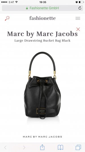 Marc by Marc Jacobs Bolso tipo marsupio negro-color oro