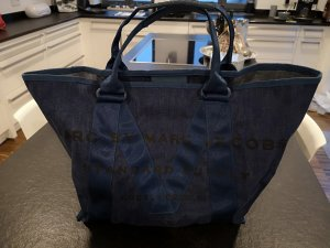 Marc by Marc Jacobs Tote donkerblauw-blauw Katoen