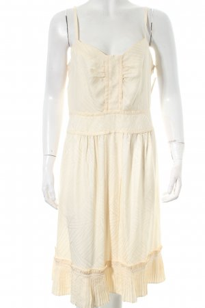 Marc by Marc Jacobs Trägerkleid creme grafisches Muster Lingerie-Look