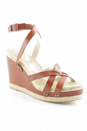 Marc by Marc Jacobs Wedge Sandals cognac-coloured-cream street-fashion look
