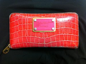Marc by Marc Jacobs Zip Around Wallet Portemonnaie rot