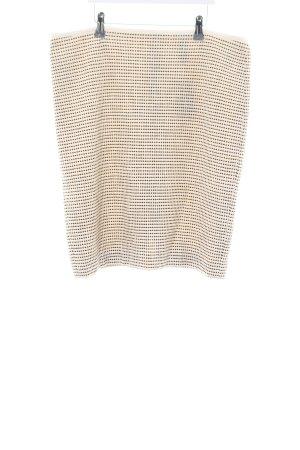 Marc Cain Gonna lavorata a maglia bianco sporco-nero Tessuto misto