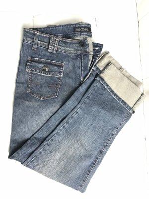 Marc Cain Jeans vita bassa blu acciaio