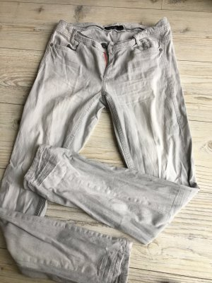 Marc Cain Sports Five-Pocket Trousers silver-colored cotton