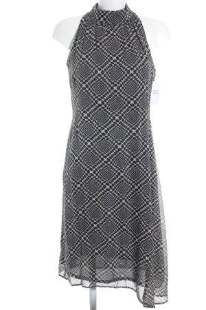 Marc Cain A-Linien Kleid schwarz-hellbeige Mustermix Casual-Look