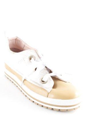 Marc Cain Absatz Sneaker weiß-hellbraun Casual-Look