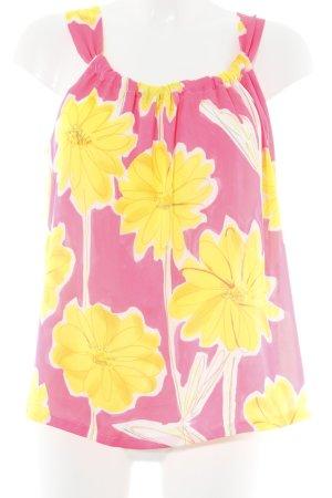 Marc Cain ärmellose Bluse florales Muster extravaganter Stil