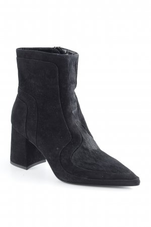 Marc Cain Ankle Boots schwarz Materialmix-Look