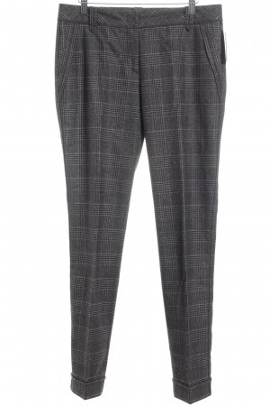 Marc Cain Suit Trouser grey brown-dark brown check pattern elegant