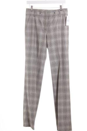 Marc Cain Pantalon de costume gris clair-gris motif pied-de-poule style rétro