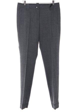 Marc Cain Pantalon de costume noir-blanc motif pied-de-poule style décontracté