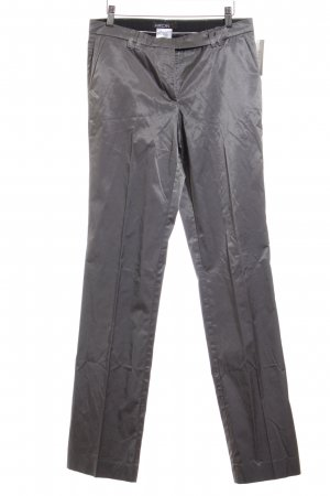 Marc Cain Pantalón de vestir color plata estilo «business»