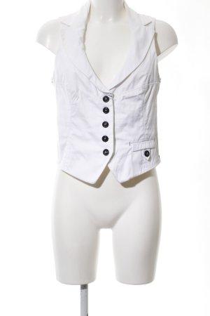 Marc Cain Gilet de costume blanc élégant