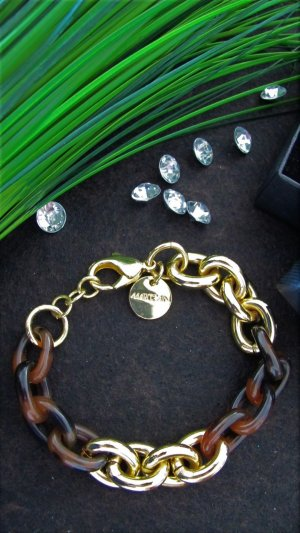 "⭐""MARC CAIN"" ⭐Armband gold/Horn NP 79,90-€ NEU in OVP"