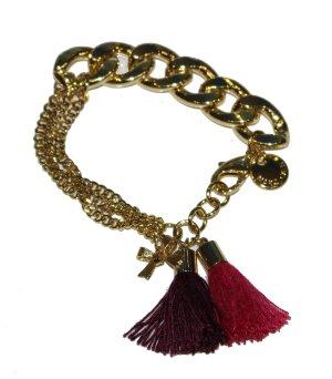 MARC CAIN Armband gold mit Quasten und Charm