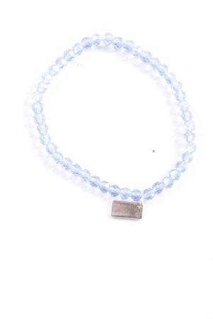 Marc Cain Armband silberfarben-kornblumenblau Romantik-Look
