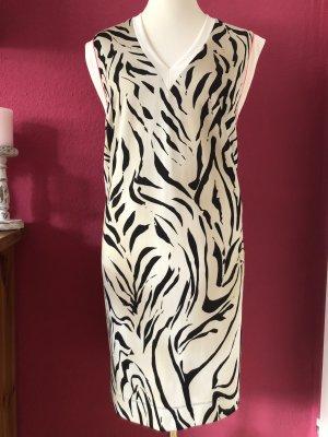Marc Cain beiges Jerseykleid mit Animalprint