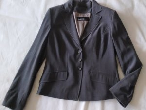 Marc Cain Wool Blazer taupe-grey brown wool