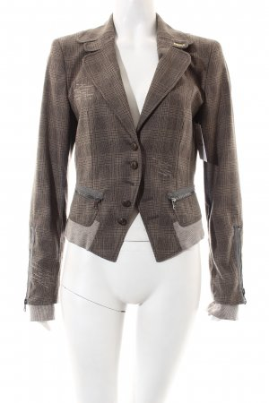 Marc Cain Blazer hellbraun-dunkelbraun Street-Fashion-Look
