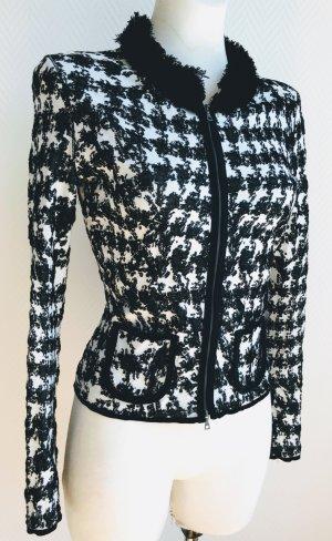 635edc32642c2 Marc Cain Blazer Jacke Kostüm-Jacke schwarz weiss Hahnentritt-Muster N3