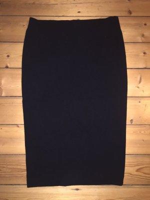 Marc Cain Bleistift-Rock / Midi-Rock schwarz, Größe N3 / 38
