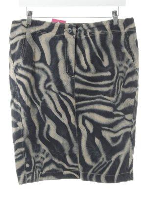 Marc Cain Bleistiftrock beige-dunkelblau Animalmuster extravaganter Stil