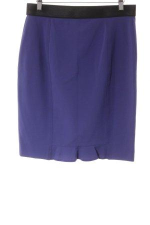 MARC CAIN Bleistiftrock blau-schwarz Business-Look Damen Gr. N 3, DE 38 Rock Skirt