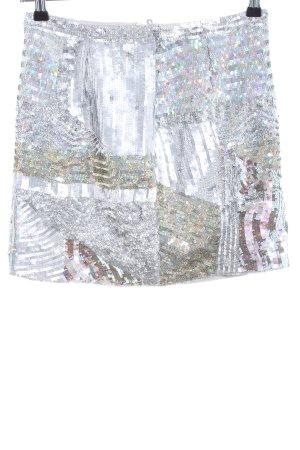 Marc Cain Bleistiftrock weiß-silberfarben Elegant