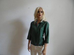 Marc Cain Blusen Jacke grün gr. N5/ 40/42 Seide