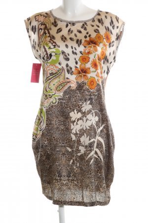 Marc Cain Blouse Dress brown abstract pattern casual look