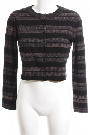 Marc Cain Bolero nero-marrone motivo animale stile casual