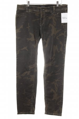 Marc Cain Boot Cut Jeans Camouflagemuster Street-Fashion-Look