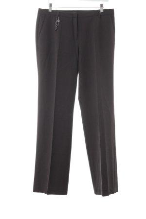 Marc Cain Pantalon à pinces brun foncé-noir motif rayé style d'affaires