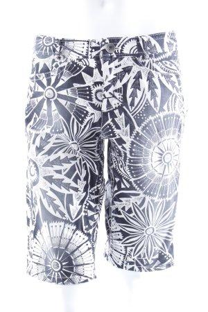 Marc Cain Caprihose schwarz-weiß gemustert
