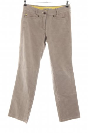 Marc Cain Cargo Pants brown-cream striped pattern casual look