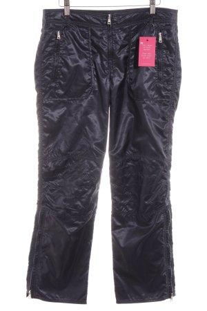 Marc Cain Pantalone cargo blu scuro effetto bagnato